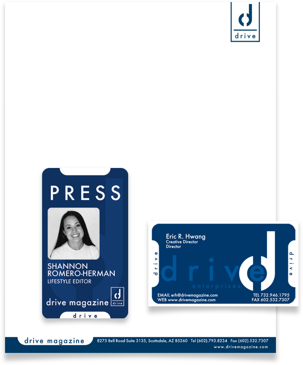 Letterhead, Press Badge, and Business Card