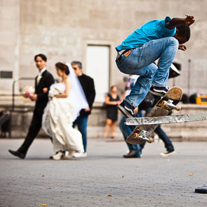 Skateboarding + Wedding