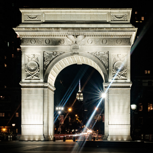 Washington Square Park Arch at Night